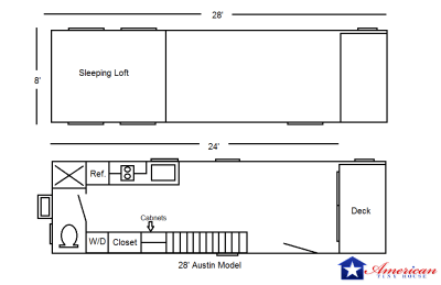 28 - Austin Model - Floorplan - American Tiny House