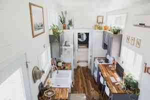 American Tiny House - Golden Inside View