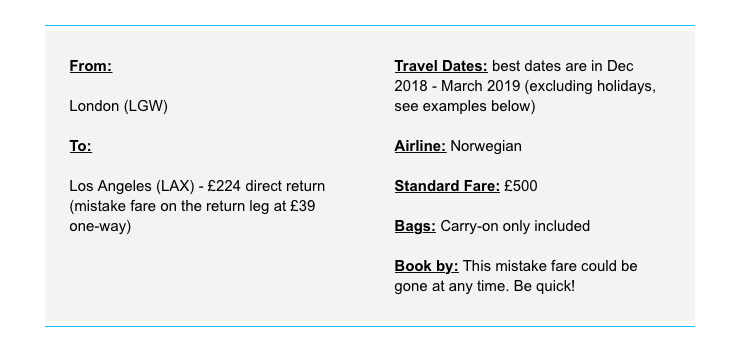 Jack's Flight Club example deal