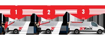 jet rack step ladder storage system