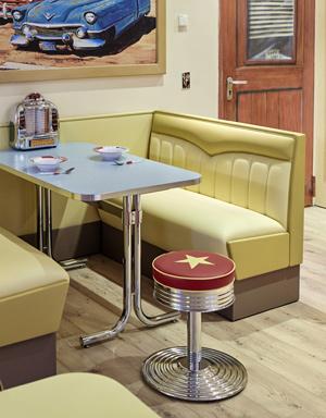 American Diner Mbel im 50s Style Dinerbnke Tische oder