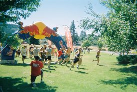 Hood To River triathlon sponsored by RedBull and Pabst Blue Ribbon