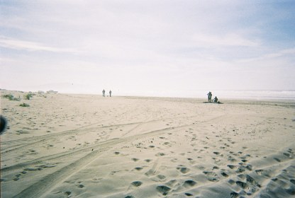 Oregon coast. Near Camp Rilea National Guard post