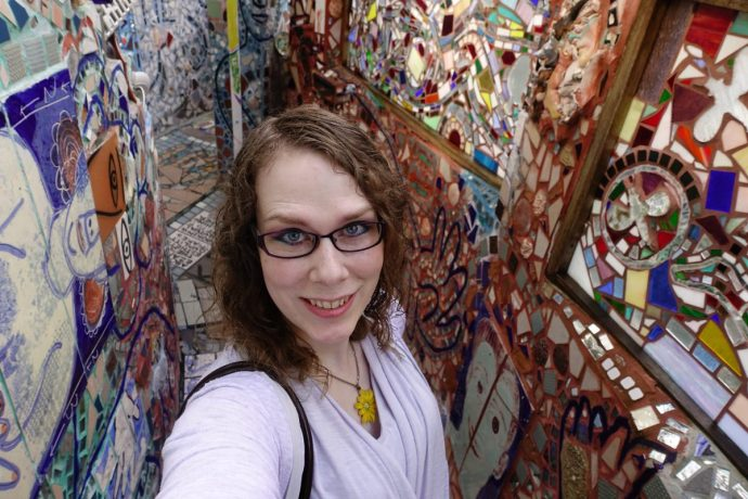 Philadelphia Magic Gardens Selfie