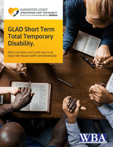 GLAD Short Term Total Temporary Disability