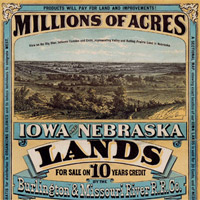 Poster advertising lands in Nebraska and Iowa