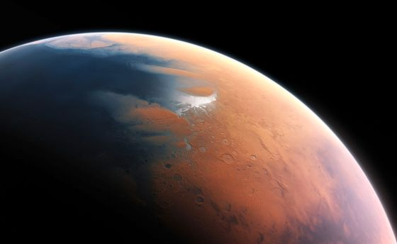 Mars' atmosphere is thin, dry and cold now, but it used to be thicker and contained a lot more oxygen. Image Credit: ESO/M. Kornmesser