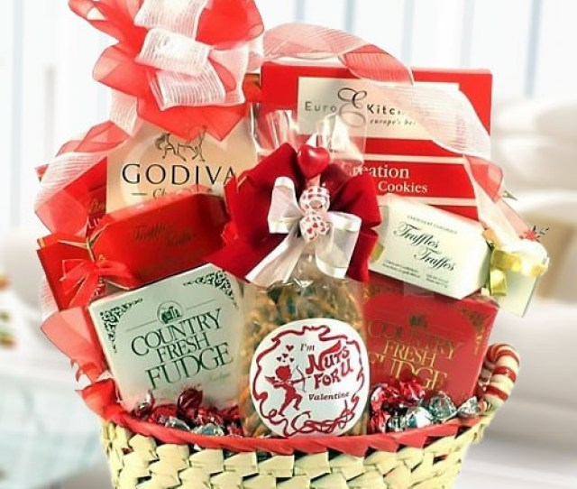 Sweet Valentines Romantic Gift Basket