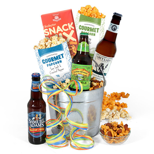beer popcorn snack mix