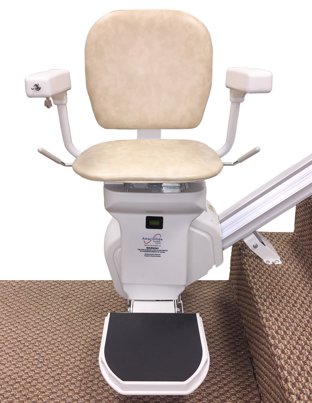 wheelchair lift cost genuine leather dining chairs melbourne ameriglide stair lifts tulsa broken arrow claremore
