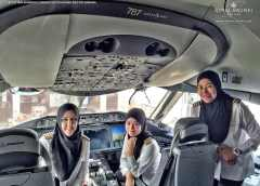 Royal Brunei Airlines' first all-female pilot crew lands plane in Saudi Arabia – where women are not allowed to drive