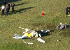 Plane crashes near runway at North Perry Airport in Pembroke Pines, killing pilot