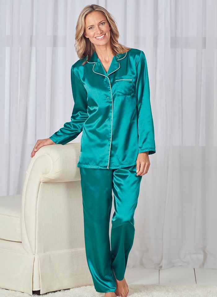 Brushed Back Satin PJs AmeriMark