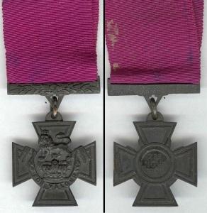 L'avers et le revers de la croix de Victoria