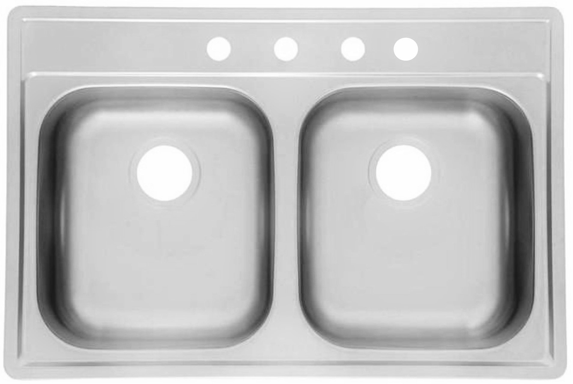 stainless steel kitchen sinks 33 x 22 cabinets buffalo ny as1276 quot 6 18g double bowl topmount economy