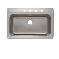 Stainless Steel Kitchen Sinks 33 X 22 How To Refurbish Cabinets As1376 Quot 6 18g Single Bowl Topmount Economy