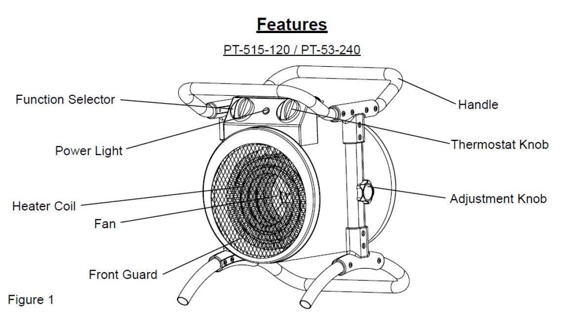 ProTemp PT-515-120 1,500W/ 5,100 BTU Electric Industrial