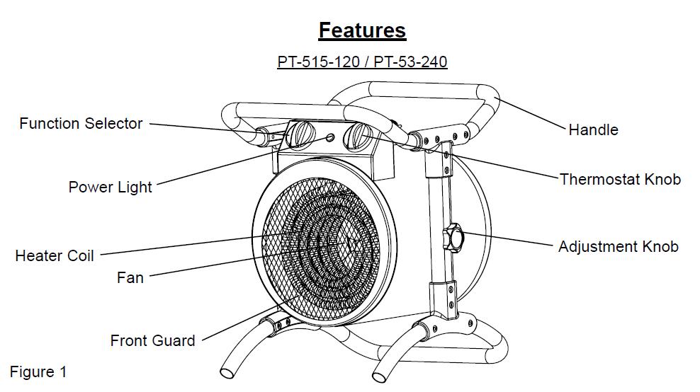 ProTemp PT-53-240 3,000W/ 10,200 BTU Electric Industrial