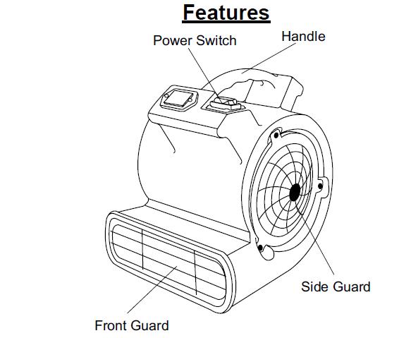 Master MAC-700-DR Industrial Mini Fan Blower/ Dryer 380