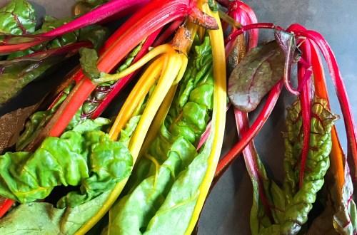 Snijbiet kleur in curry