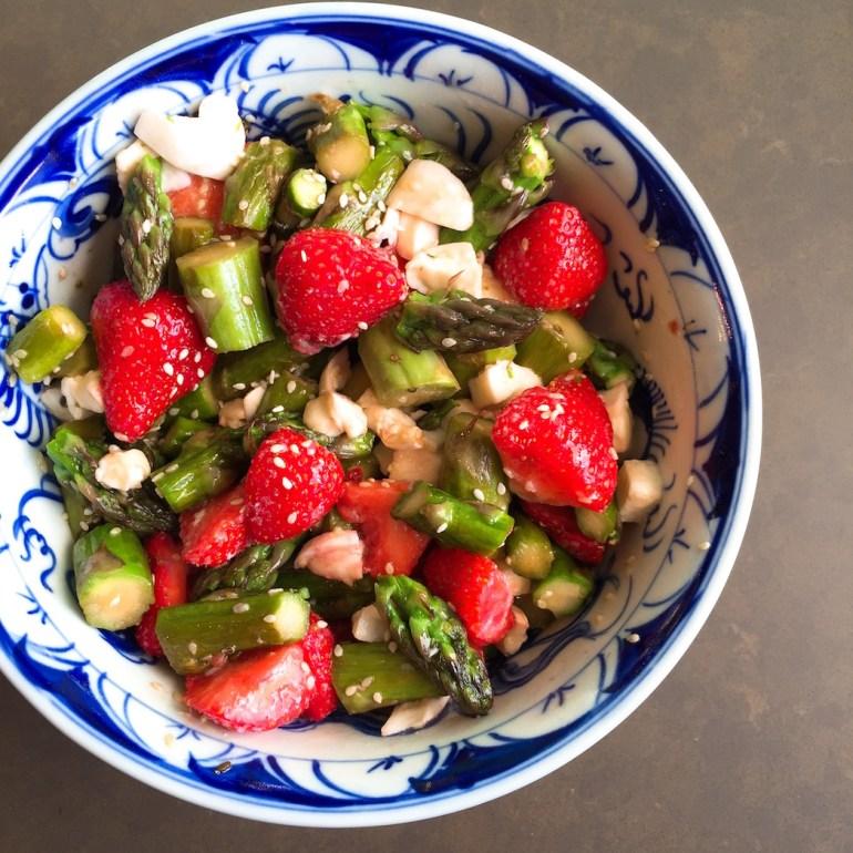 salade aardbei asperges