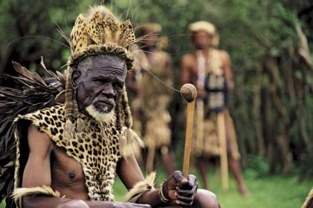 African Elder probably leading prayers to God
