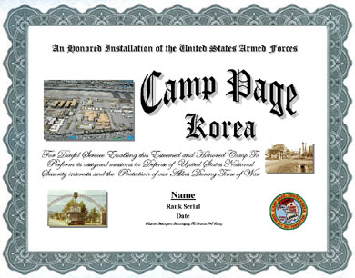 Camp Page Korea Service Display Recognition