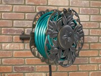 NeverLeak Decorative wall mount hose reel with swivel ...
