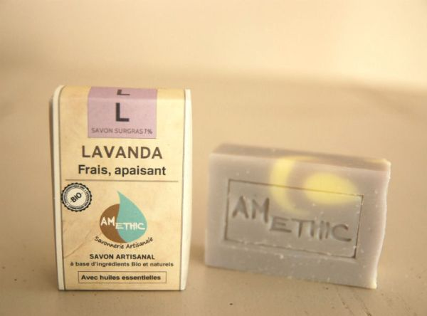savon bio lavandin france amethic