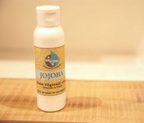 huile de jojoba bio et vierge amethic