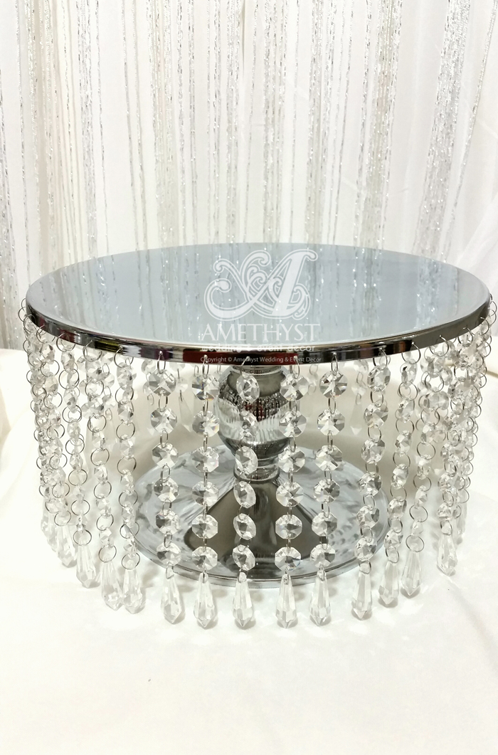 12 Inch 30cm Metal  Crystals Cake Stand  30diy