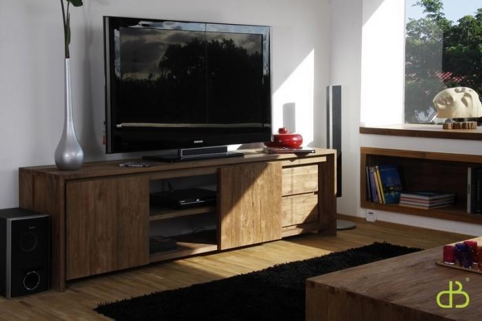 meuble tv teck dbodhi 220