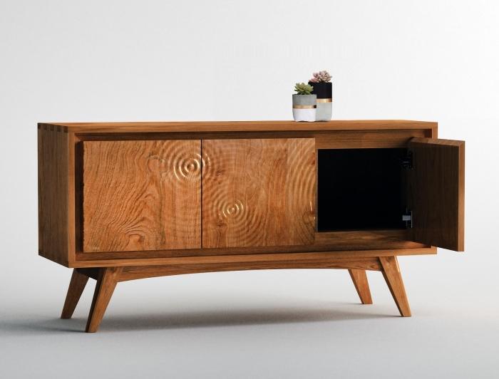 meuble tv teck teinte aros 120 cm