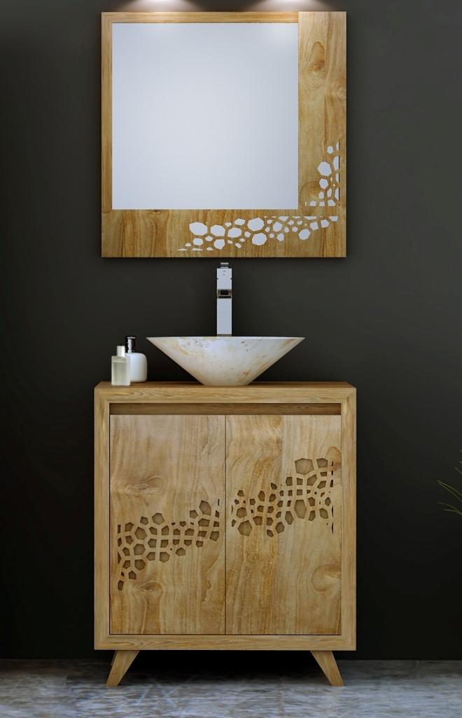 meuble salle de bain teck mobilier en