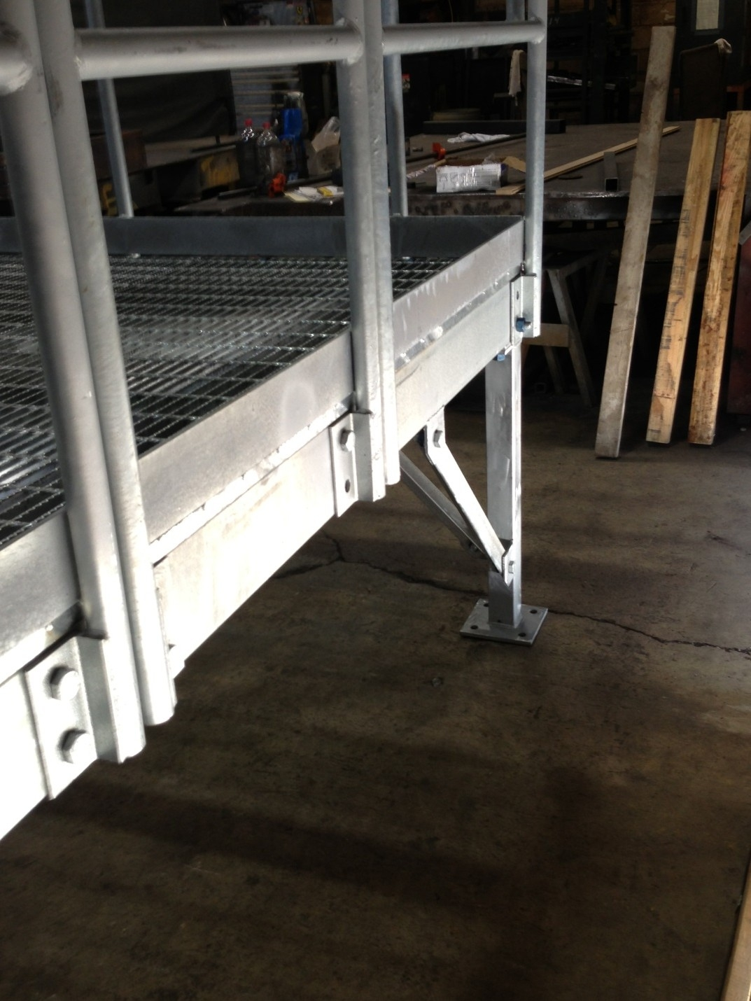 Outdoor Stairs For Construction Trailers | Removable Handrail For Stairs