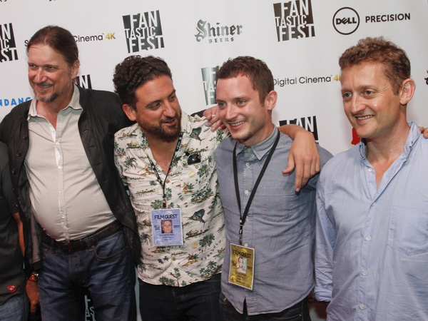 Grand Piano red carpet-with Elijah Wood Don-McManus Eugenio Mira and Alex Winter at Fantastic Fest  - Photo Credit: Jack Plunckett