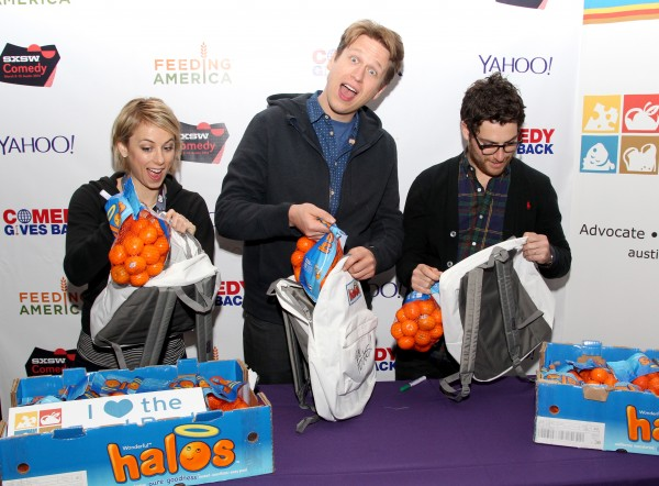 Iliza, Pete Holmes and Adam Pally at Comedy Gives Back SXSW