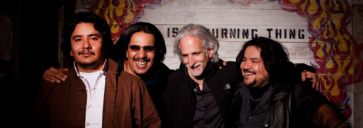 Los Lonely Boys and Kevin Wommack.  Photo by:  Piper Ferguson