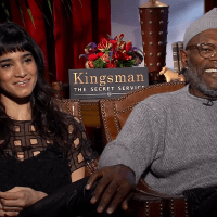 SAMUEL L. JACKSON AND SOFIA BOUTELLA REVEAL THEIR  FAVORITE WEAPONS FROM KINGSMAN:  THE SECRET SERVICE
