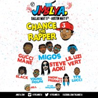 JMBLYA MUSIC FESTIVAL ANNOUNCES GUCCI MANE & MIGOS TO JOIN CHANCE THE RAPPER IN DALLAS MAY 5TH AND AUSTIN MAY 6TH