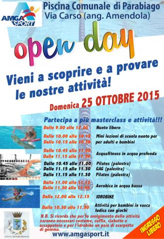 LOPEN DAY  anche in Piscina a Parabiago  AMGA Sport