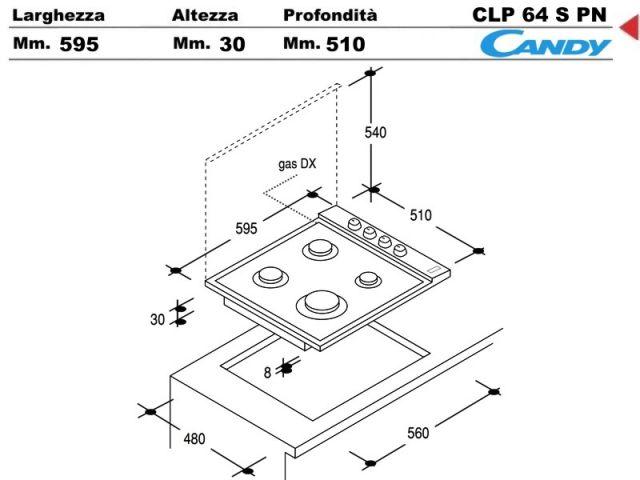 CLG64SPN  Piano Cottura 60 incasso cucina Candy CLG64SPN 4 Fuochi Nero  Ecommerce Amgincasso