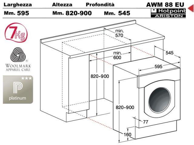AWM108EUN  Lavabiancheria Hotpoint Ariston AWM 108 EUN