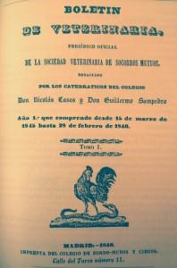 Figura 1 Ejemplar del Boletín de Veterinaria