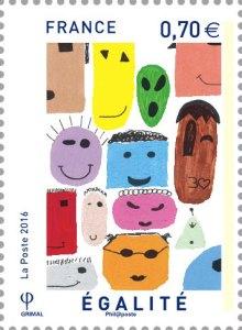 egalite - Un triptyque de timbres républicains conçu par des collégiens