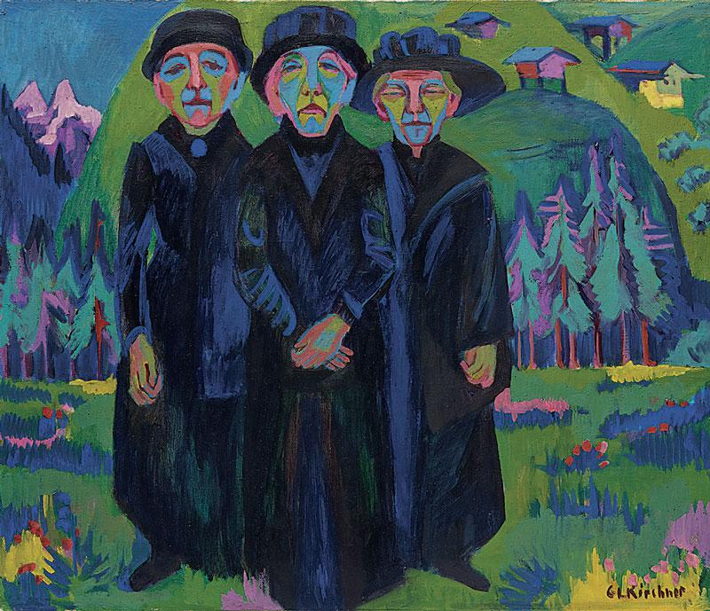 Die drei alten Damen, 1925-26. Kirchner Museum Davos