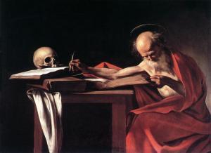 Saint Jérôme écrivant par Le Caravage (1606) - Galerie Borghèse