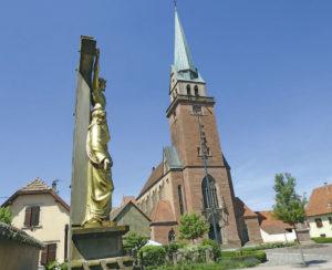 eglise2 - A Meistratzheim, l'ange s'ennuie