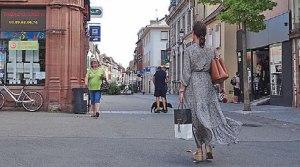 commerce dans le centre-ville de Guebwiller