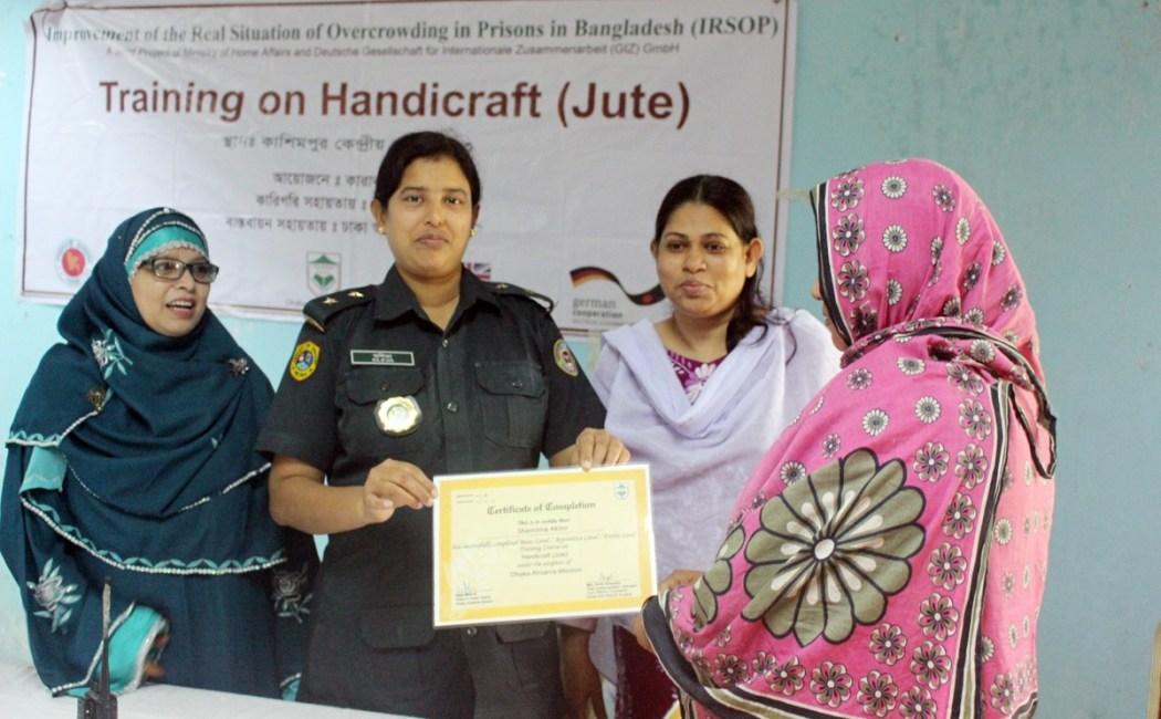 Certificate Distribution Ceremony at Kashimpur Female Central Jail